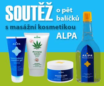 Soutěž - masážní kosmetika Alpa